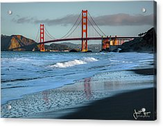 Bridge And Waves Acrylic Print
