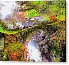 Bridge Arial View Acrylic Print