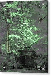 Bridge At Clark Gardens Acrylic Print by Jeff Breiman