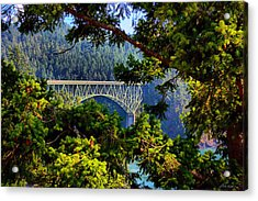 Bridge At Deception Pass Acrylic Print by Michelle Joseph-Long