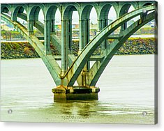 Acrylic Print featuring the photograph Bridge At Gold Beach by Dale Stillman