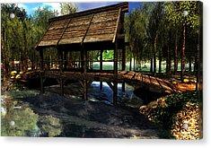 Bridge At L'arc En Ciel Acrylic Print