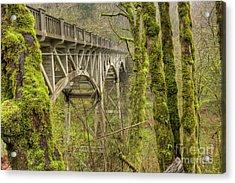 Bridge At Latourell Falls Oregon Acrylic Print by Dustin K Ryan