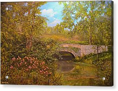 Bridge At Minterne Acrylic Print