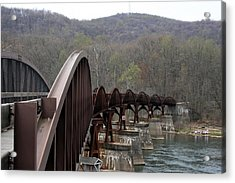 Bridge At Ohiopyle Pennsylvania Acrylic Print