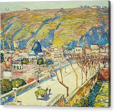Bridge At Posilippo At Naples Acrylic Print by Childe Hassam