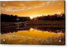 Bridge At Sundown Acrylic Print by Keith Bridgman