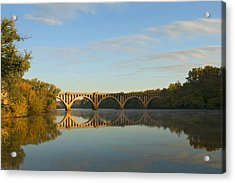Bridge At Sunrise Acrylic Print by John Magor
