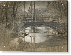 Bridge At The Fens Acrylic Print