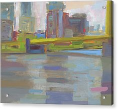 Acrylic Print featuring the painting Bridge by Chris N Rohrbach