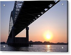 Bridge Over Mississippi River Acrylic Print