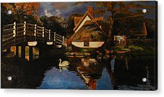 Bridge Cottage Acrylic Print