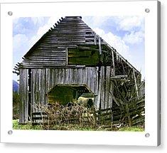 Bridge Creek Barn Acrylic Print by Susan Leggett