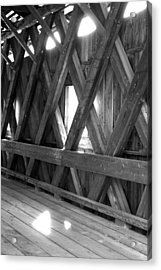 Acrylic Print featuring the photograph Bridge Glow by Greg Fortier