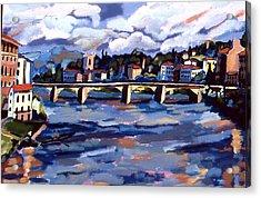 Bridge In Florence Acrylic Print