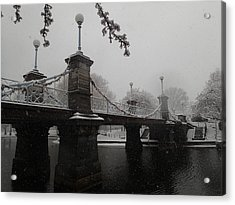 Bridge In Suspension 1867 Acrylic Print