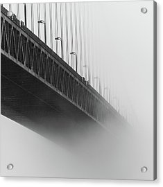 Acrylic Print featuring the photograph Bridge In The Fog by Stephen Holst