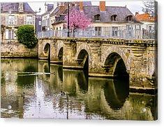 Bridge In The Loir Valley, France Acrylic Print