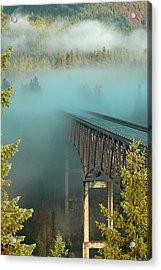 Bridge In The Mist Acrylic Print by Annie Pflueger