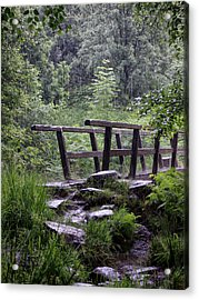 Bridge In The Rain Acrylic Print