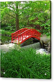 Acrylic Print featuring the photograph Bridge In The Woods by Rodney Campbell