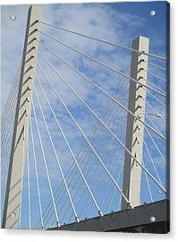 Bridge Acrylic Print by Martin Cline