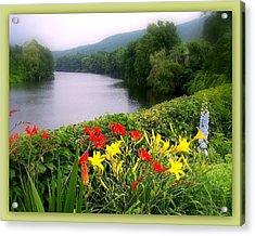 Bridge Of Flowers Acrylic Print by Linda Galok
