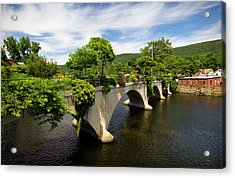 Bridge Of Flowers Shelburne Falls, Ma Acrylic Print by Betty Denise