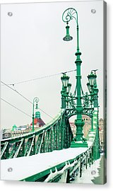 Bridge Of Liberty In Budapest Acrylic Print