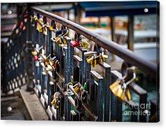 Bridge Of Love Venice Acrylic Print by Ken Andersen