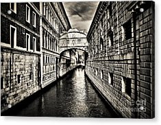 Bridge Of Sighs Acrylic Print by Alessandro Giorgi Art Photography