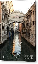 Bridge Of Sighs In Venice In Morning Light Acrylic Print by Michael Henderson