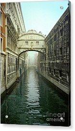 Bridge Of Sighs In Venice Acrylic Print by Michael Henderson