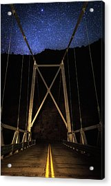 Acrylic Print featuring the photograph Bridge Of Stars by Cat Connor