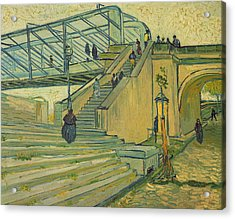 Bridge Of Trinquetaille Acrylic Print by Vincent van Gogh