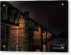 Bridge On Holy River Godavari Acrylic Print
