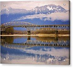 Acrylic Print featuring the photograph Bridge Over Calm Waters by Jordan Blackstone