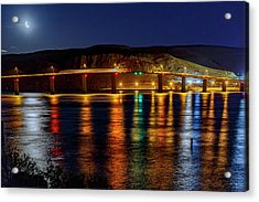 Acrylic Print featuring the photograph Bridge Over Columbia Waters by Cat Connor