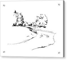 Bridge Over The River Acrylic Print