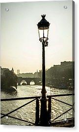 Bridge Over The Seine. Paris. France. Europe. Acrylic Print by Bernard Jaubert