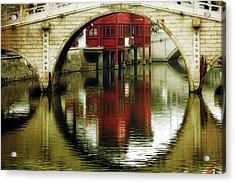 Bridge Over The Tong - Qibao Water Village China Acrylic Print