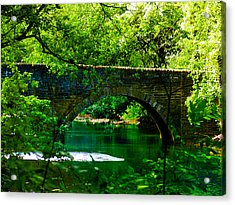 Bridge Over The Wissahickon Acrylic Print by Bill Cannon