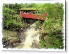 Bridge Over Troubled Water Acrylic Print by Karol Livote