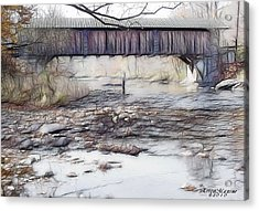 Acrylic Print featuring the photograph Bridge Over Troubled Waters by EricaMaxine  Price