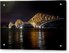 Bridge Over Water Lights. Acrylic Print