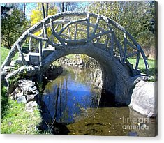 Bridge Park Acrylic Print by Emily Kelley