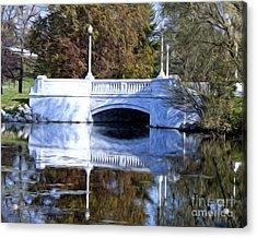 Acrylic Print featuring the photograph Bridge Reflection by Anne Raczkowski