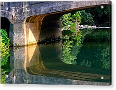 Bridge Shadow Geometry Acrylic Print