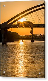 Acrylic Print featuring the photograph Bridge Sunrise #2 by Patti Deters