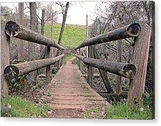 Bridge To E Acrylic Print by M Ryan